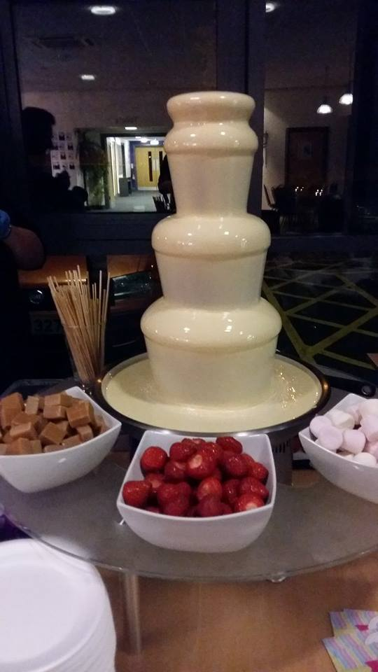 Our Belgium White Chocolate Fountain