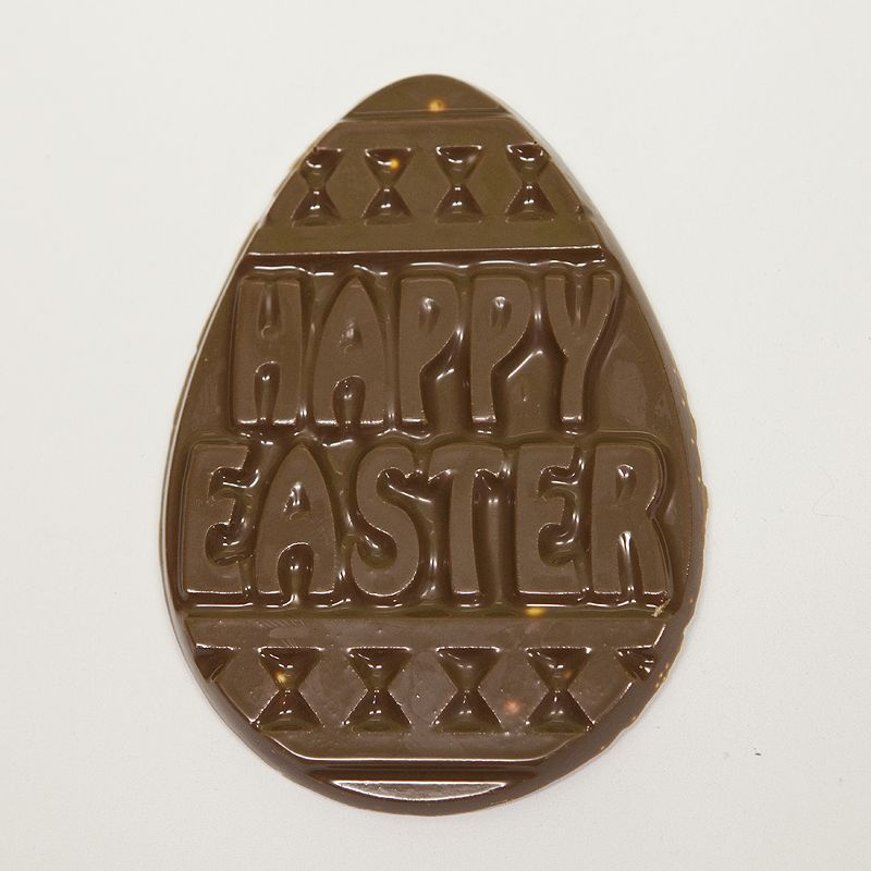 Happy Easter Medium 2D Easter Egg Milk Belgian Chocolate